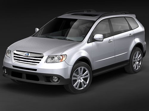 subaru tribeca suv 3d model